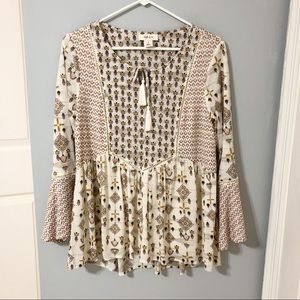 Style & Co Peasant Top